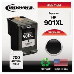 Innovera Remanufactured CC654AN (901XL) High-Yield Ink, Black