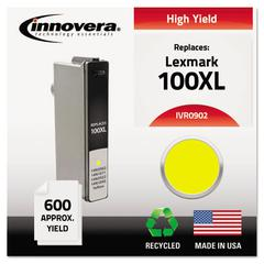 Innovera Remanufactured 14N0902 (100XL) High-Yield Ink, Yellow