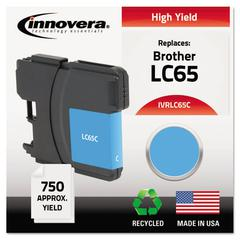 Innovera Remanufactured LC65C High-Yield Ink, Cyan