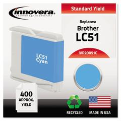 Remanufactured LC51C Ink, Cyan
