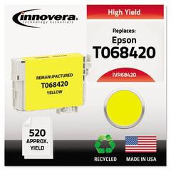 Remanufactured T068420 (68) High-Yield Ink, Yellow