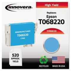 Remanufactured T068220 (68) High-Yield Ink, Cyan