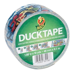 "Duck Colored Duct Tape, 9 mil, 1.88"" x 10 yds, 3"" Core, Graffiti"