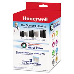 Honeywell Allergen Remover Replacement HEPA Filters, 3/Pack