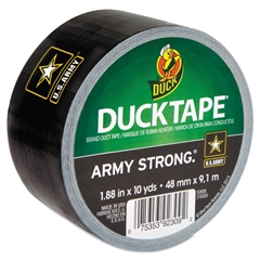 "Duck U.S. Army DuckTape, 1.88"" x 10 yds, 3"" Core, Black/Gold"