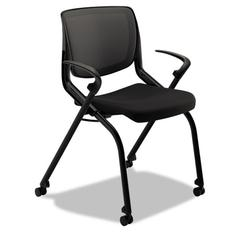 HON Motivate Seating Nesting/Stacking Flex-Back Chair, Black/Onyx/Black