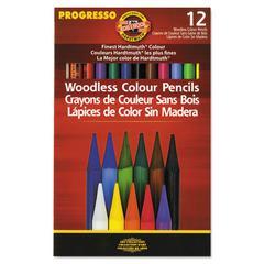 Koh-I-Noor Progresso Woodless Color Pencils, Assorted