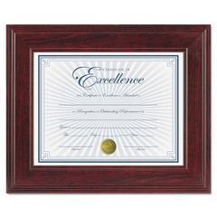 DAX Executive Document/Photo Frame, Desk/Wall Mount, Plastic, 8 1/2 x 11, Mahogany