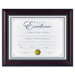 Prestige Document Frame, Rosewood/Black, Gold Accents, Certificate, 8 1/2 x 11