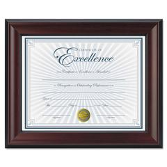 Rosewood Document Frame, Wall-Mount, Plastic, 8 1/2 x 11