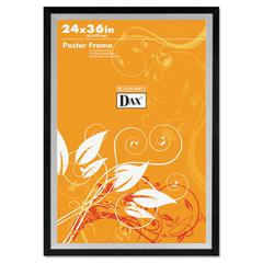 DAX Metro Series Poster Frame, Plastic, 24 x 36, Black/Silver
