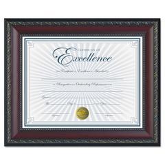 DAX World Class Document Frame w/Certificate, Walnut, 8 1/2 x 11