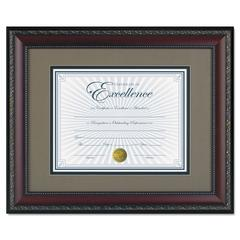 DAX World Class Document Frame w/Cert, Walnut, 11 x 14, 8 1/2 x 11
