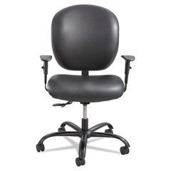 Safco Alday Series Intensive Use Chair, Vinyl Back, Vinyl Seat, Black