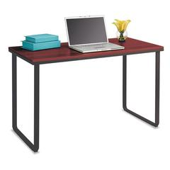 Safco Steel Workstation, 47-1/4w x 24d x 28-3/4h, Cherry/Black