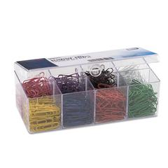 Plastic Coated Paper Clips, No. 2 Size, Assorted Colors, 800/Pack