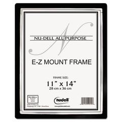 EZ Mount II Document Frame, Plastic, 11 x 14, Black/Silver