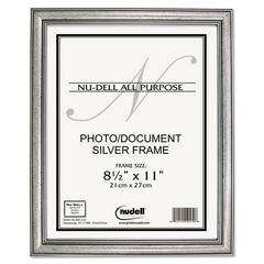 Antique Silver Finish Wood Frame, 8 1/2 x 11