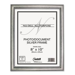 NuDell Antique Silver Finish Wood Frame, 8 x 10