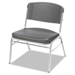 Iceberg Rough N Ready Series Big & Tall Stackable Chair, Charcoal/Silver, 4/Carton