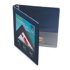 "Avery Framed View Heavy-Duty Binder w/Slant Rings, 11 x 8 1/2, 1/2"" Cap, Navy Blue"