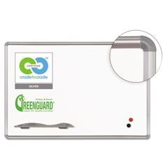 Green Rite Dry Erase Board, 96 x 48, White, Silver Frame