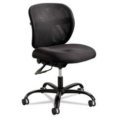Safco Vue Intensive Use Mesh Task Chair, Polyester Seat, Black