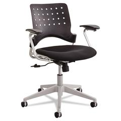 Rêve Series Task Chair, Square Plastic Back, Polyester Seat, Black Seat/Back