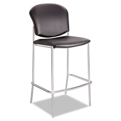 Diaz Bistro Chair, Black Vinyl