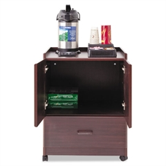 Vertiflex Mobile Deluxe Coffee Bar, 23w x 19d x 30-3/4h, Mahogany