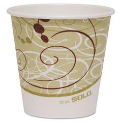 SOLO Cup Company Polycoated Hot Paper Cups, 10 oz, Symphony Design, 1000/Carton