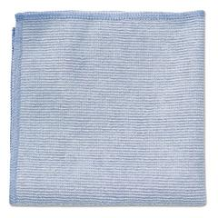 Rubbermaid Commercial Microfiber Cleaning Cloths, 12 x 12, Blue, 24/Pack