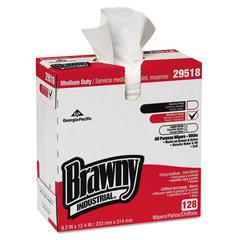 Brawny Ind. Airlaid Med-Duty Wipers, Cloth, 9 1/5 x 12 2/5, WE, 128/BX, 10 BX/CT