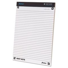 Ampad Shot Note Writing Pad, 8 1/2 x 11 3/4, Legal/Wide, 40 Sheets