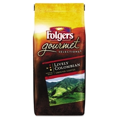 Folgers Gourmet Selections Coffee, Ground, 100% Colombian, 10oz Bag