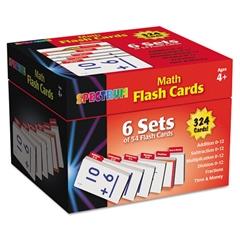 Carson-Dellosa Publishing Flash Cards Boxed Set, Math, 4 3/5 x 4 1/4, 354 Card Set