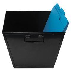 Steel File and Storage Bin, Legal, 15 1/4 x 11 1/4 x 7 1/4, Black
