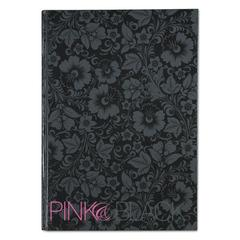 Pink & Black Pink & Black Prof Casebound Notebook, Ruled, 11 5/8 x 8 1/4, 96 Sheets
