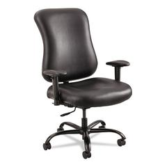 Optimus High Back Big & Tall Chair, 400-lb. Capacity, Black Leather