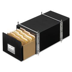 STAXONSTEEL Storage Box Drawer, Letter, Steel Frame, Black, 6/Carton