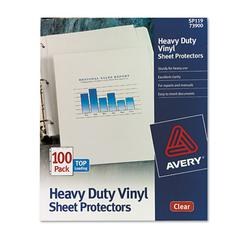 Top-Load Vinyl Sheet Protectors, Heavy Gauge, Letter, Clear, 100/Box