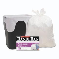 Handi-Bag Super Value Pack, 8gal, 0.6mil, 22 x 24, White, 130/Box, 6 Box/Carton