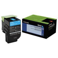 70C10C0 Toner (LEX-701C), 1000 Page-Yield, Cyan
