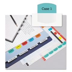 Redi-Tag Laser Printable Index Tabs, 1 1/8 Inch, Five Colors, 100/Pack