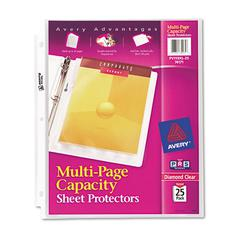 Multi-Page Top-Load Sheet Protectors, Heavy Gauge, Letter, Clear, 25/Pack