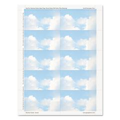 Geographics Clouds Design Business Suite Cards, 3 1/2 x 2, 65 lb Cardstock, 250 Cards/Pack