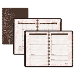 Sorbet Monthly Planner, 8 1/2 x 11, Brown/Pink, 2017