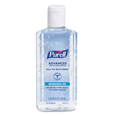 PURELL Advanced Instant Hand Sanitizer, 4oz Flip-Cap Bottle, 24/Carton