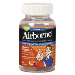 Airborne Immune Support Gummies, Assorted Fruit Flavors, 21/Bottle
