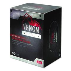 Venom Steel Industrial Nitrile Gloves, X-Large, Black, Powder-Free, 50/Box